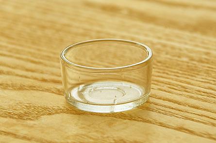 Teelichtbehälter aus Glas